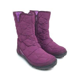 Columbia purple Minx Slip II omni heat boots BL159